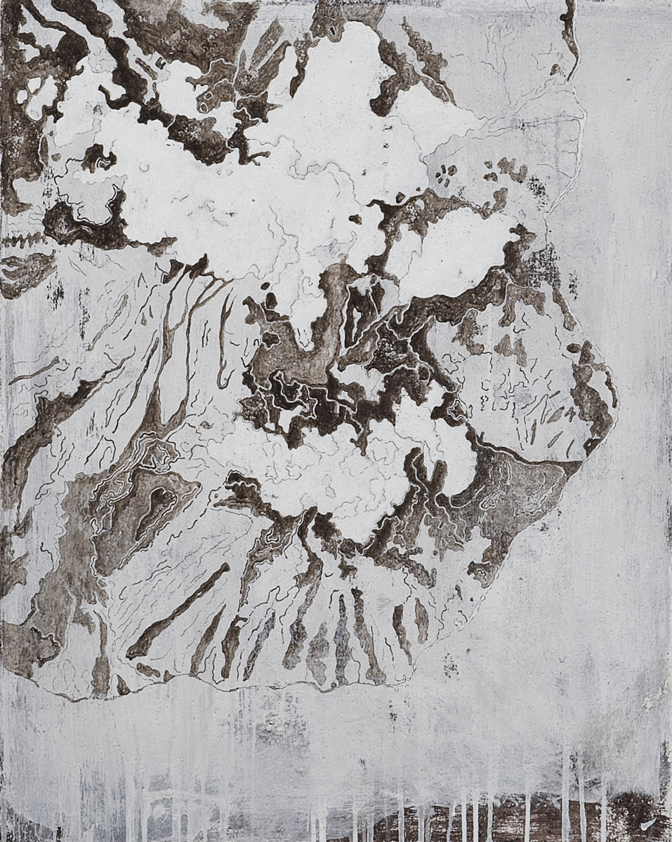 Montserrat S.E point, 2009 92 x 73 cm / 37 x 28 inches Pigments / Canvas