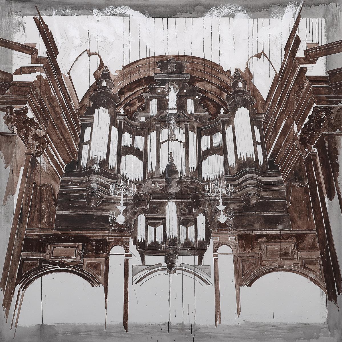 Requiem von Mozart, 2007 195 x 195 cm / 77 x 77 inches Pigments / Canvas