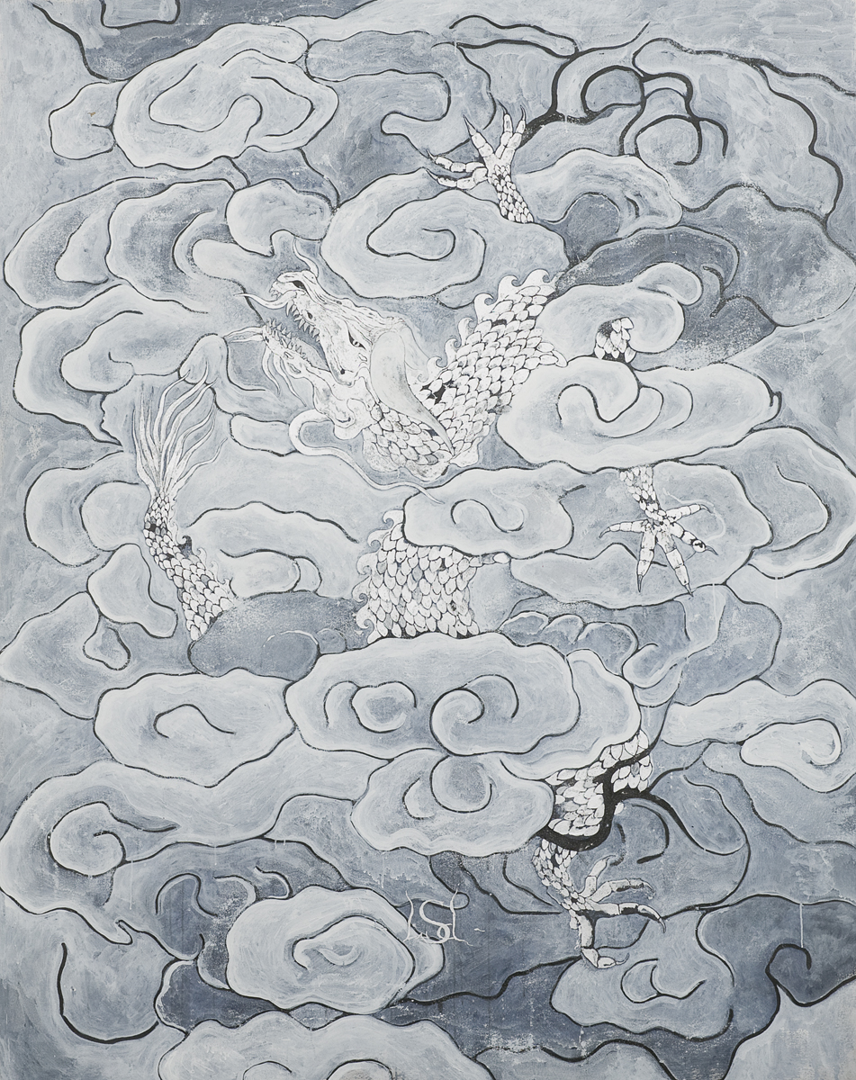 LSD Dragon, 2008, 239 x 188 cm / 94 x 74 inches, Pigments / Canvas