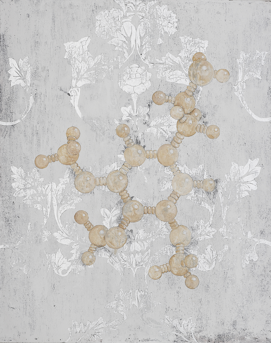 Mescaline Molecular Structure, 2008 92 x 73 cm / 36 x 28 inches Pigments / Canvas