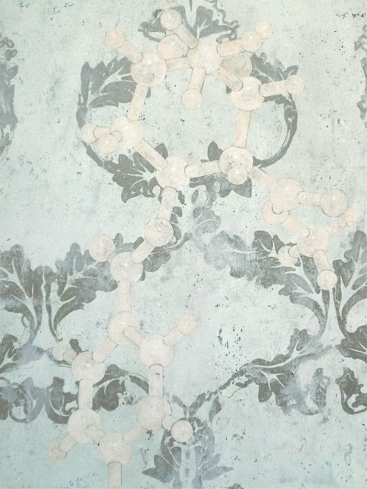 Tropane Alcaloid Molecular Structure, 2010 92 x 73 cm / 36 x 28 inches Pigments / Canvas
