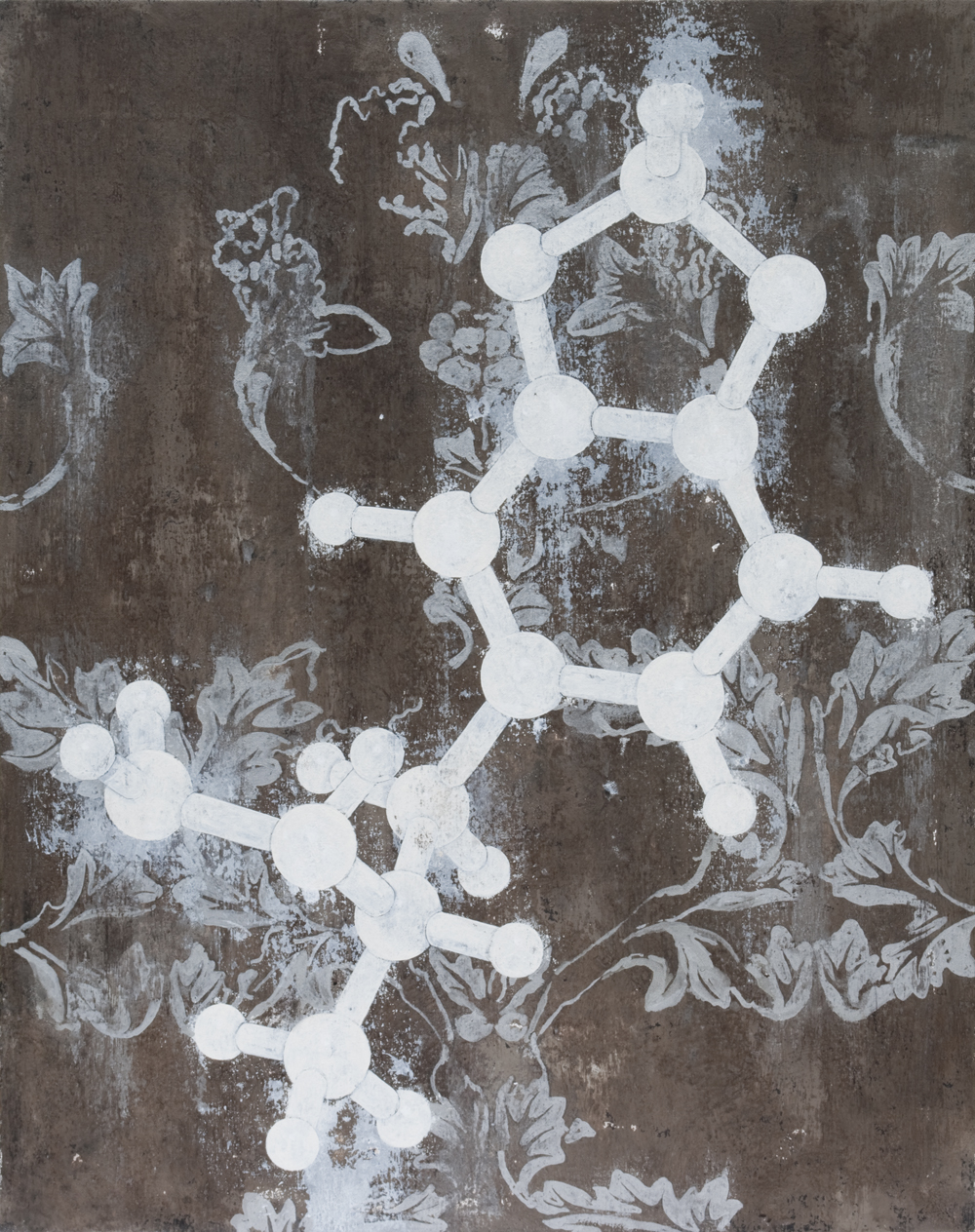 XTC Molecular Structure, 2010 92 x 73 cm / 36 x 28 inches Pigments / Canvas