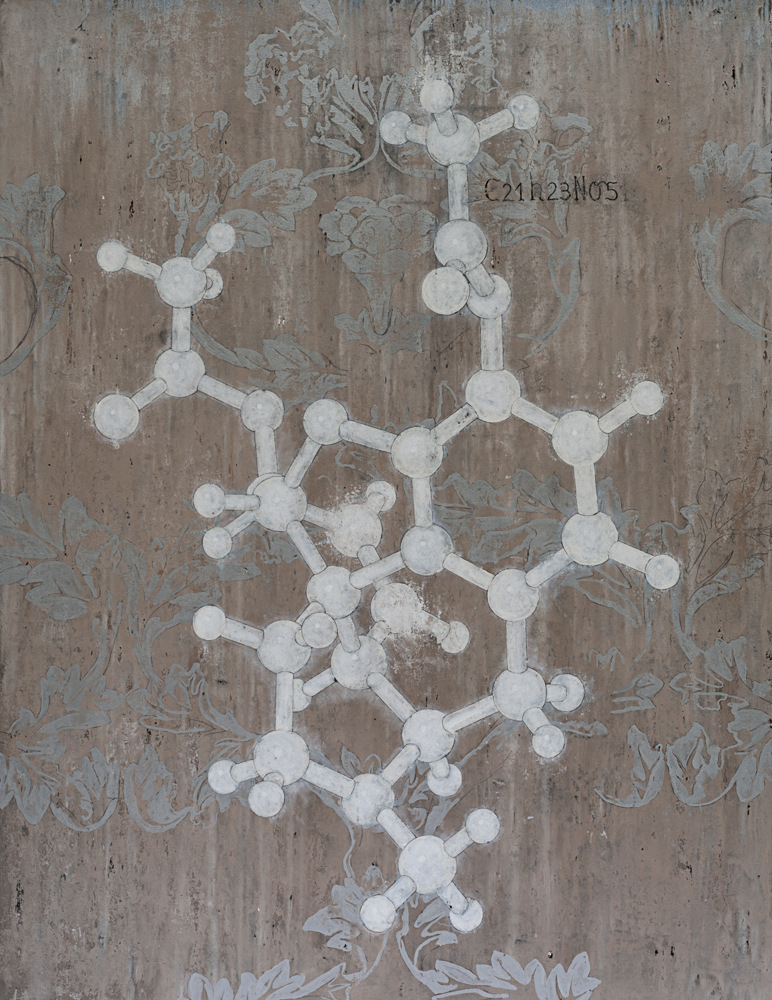 Andomorphine Molecular Structure, 2009 195 x 150 cm / 77 x 59 inches Pigments / Canvas
