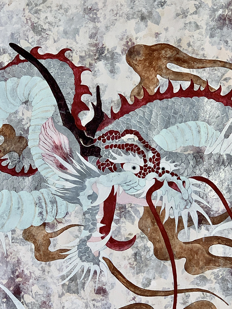 DMT Dragon 220 x 176 cm, 2020, pigments / coton (detail)